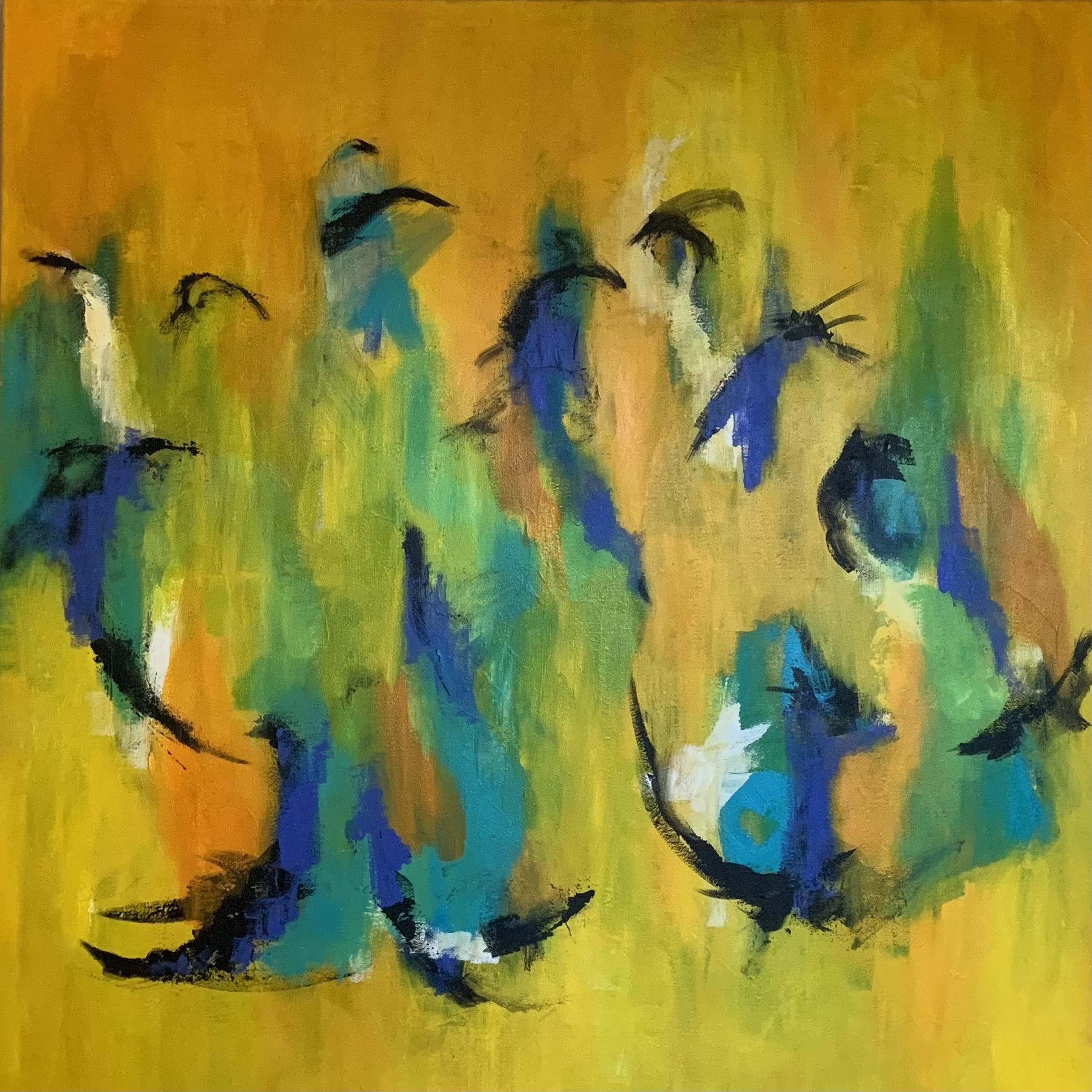 Kompositionen leder tankerne hen på musik og måske fugle, der gemmer sig i hele skoven