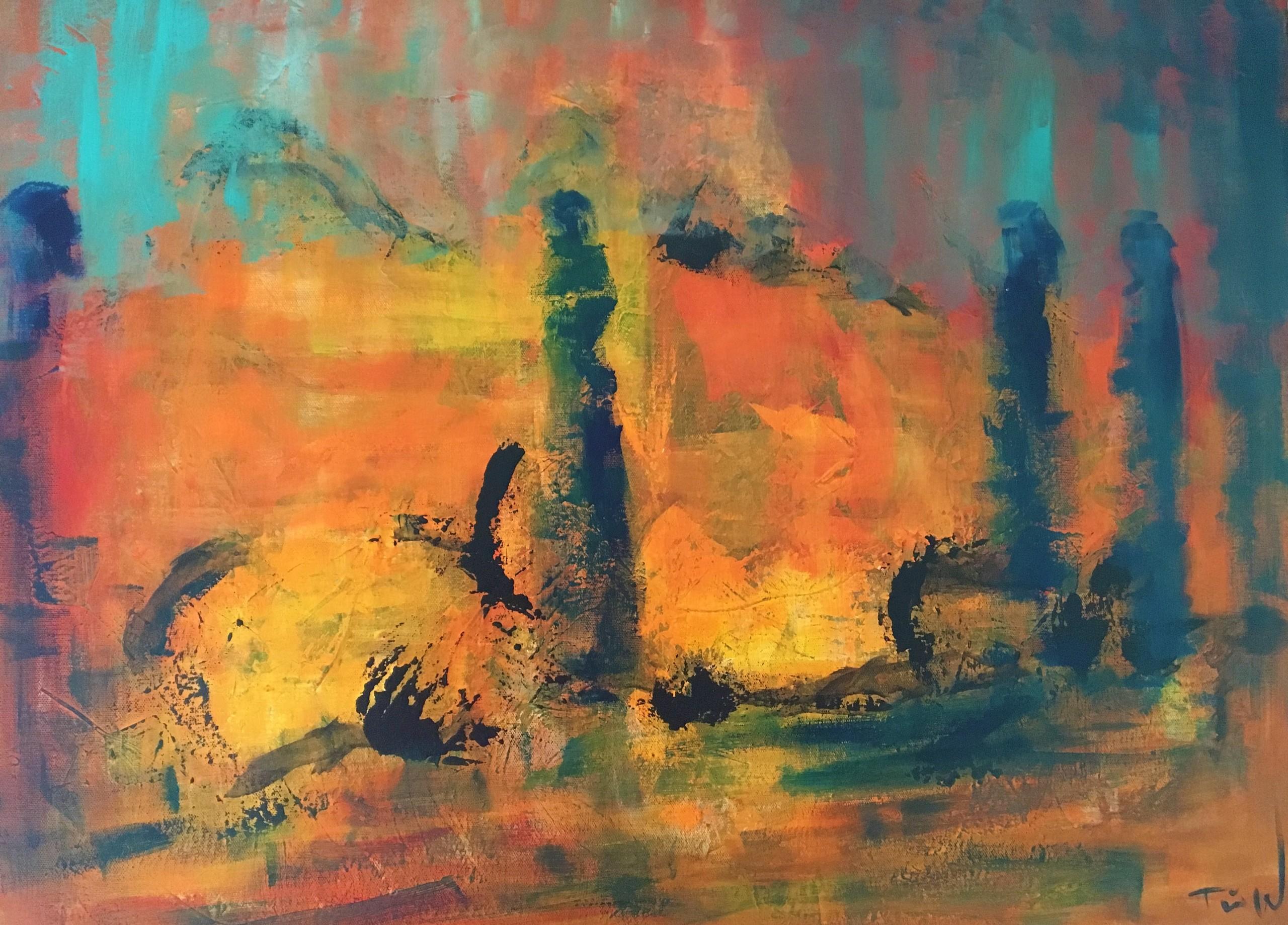 Min mand elsker dette maleri med dets varme og blide glød - og dets diffuse lys. Et rigtig sommermaleri fra Nordsjælland.