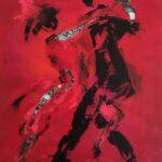 Tine Weppler Maleri af tango 40 x 30 cm
