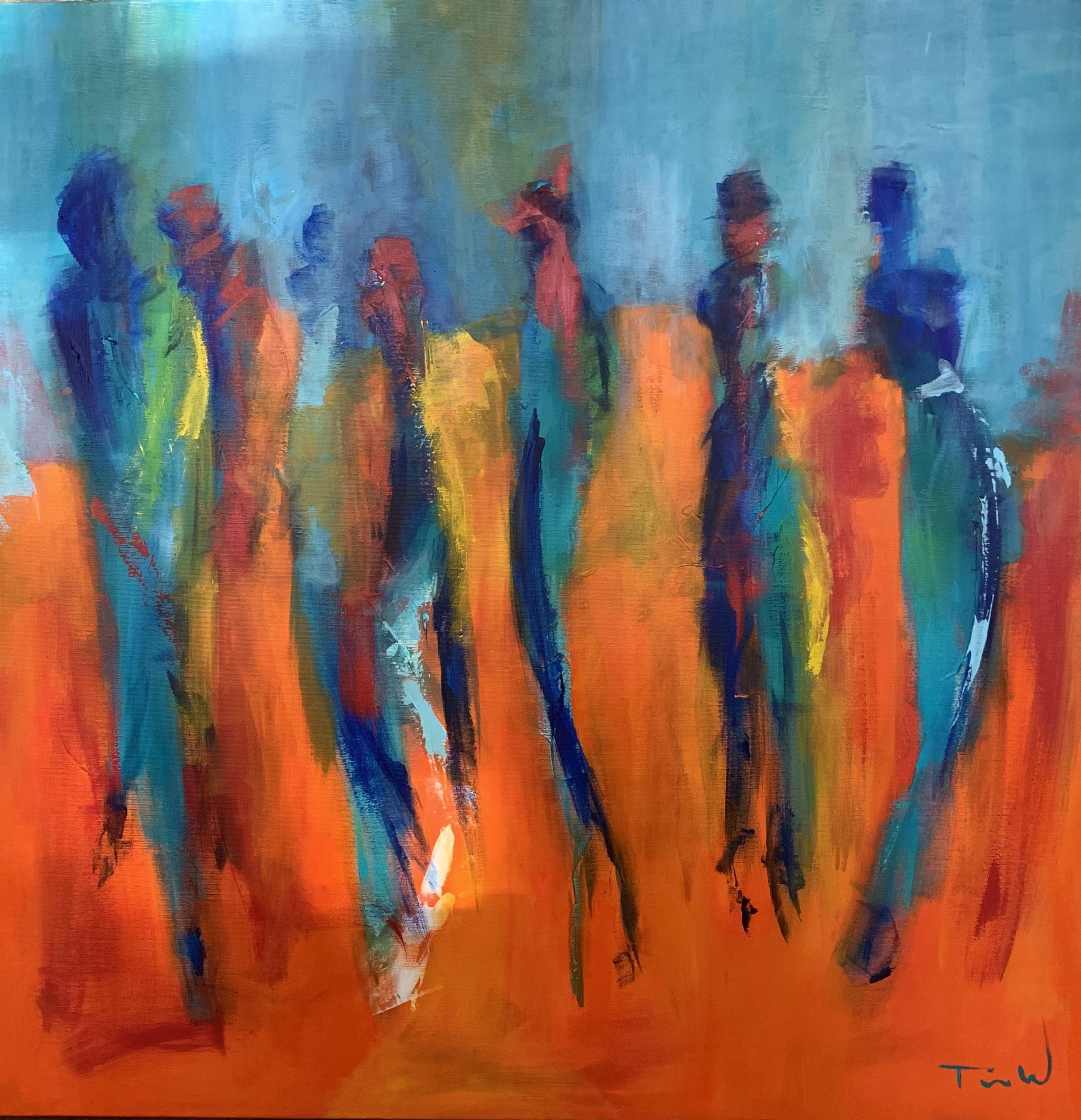 Malet i en periode hvor mennesker dominerede mine malerier.