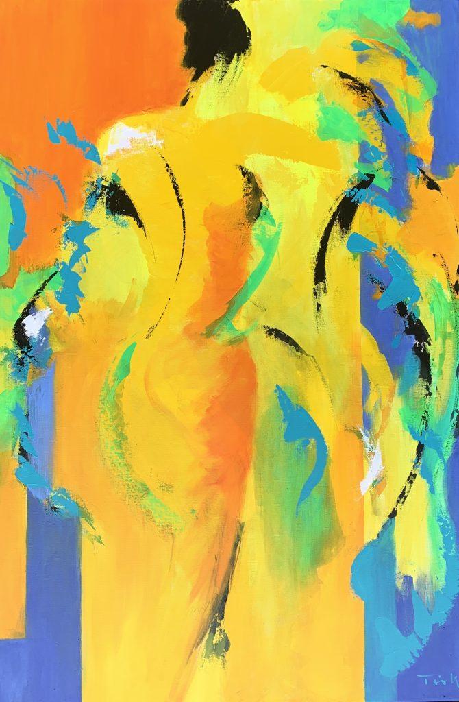 Farverig abstrkt maleri