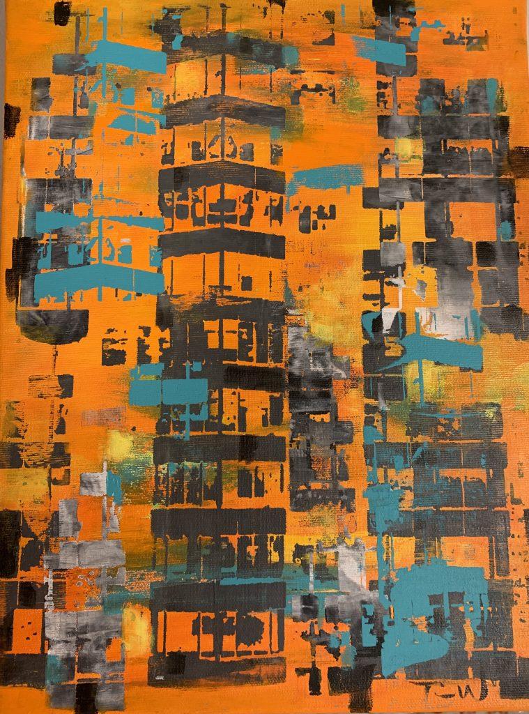 Abstrakte malerier af New York