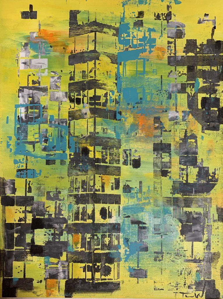 Tine Weppler Abstrakt maleri af New York