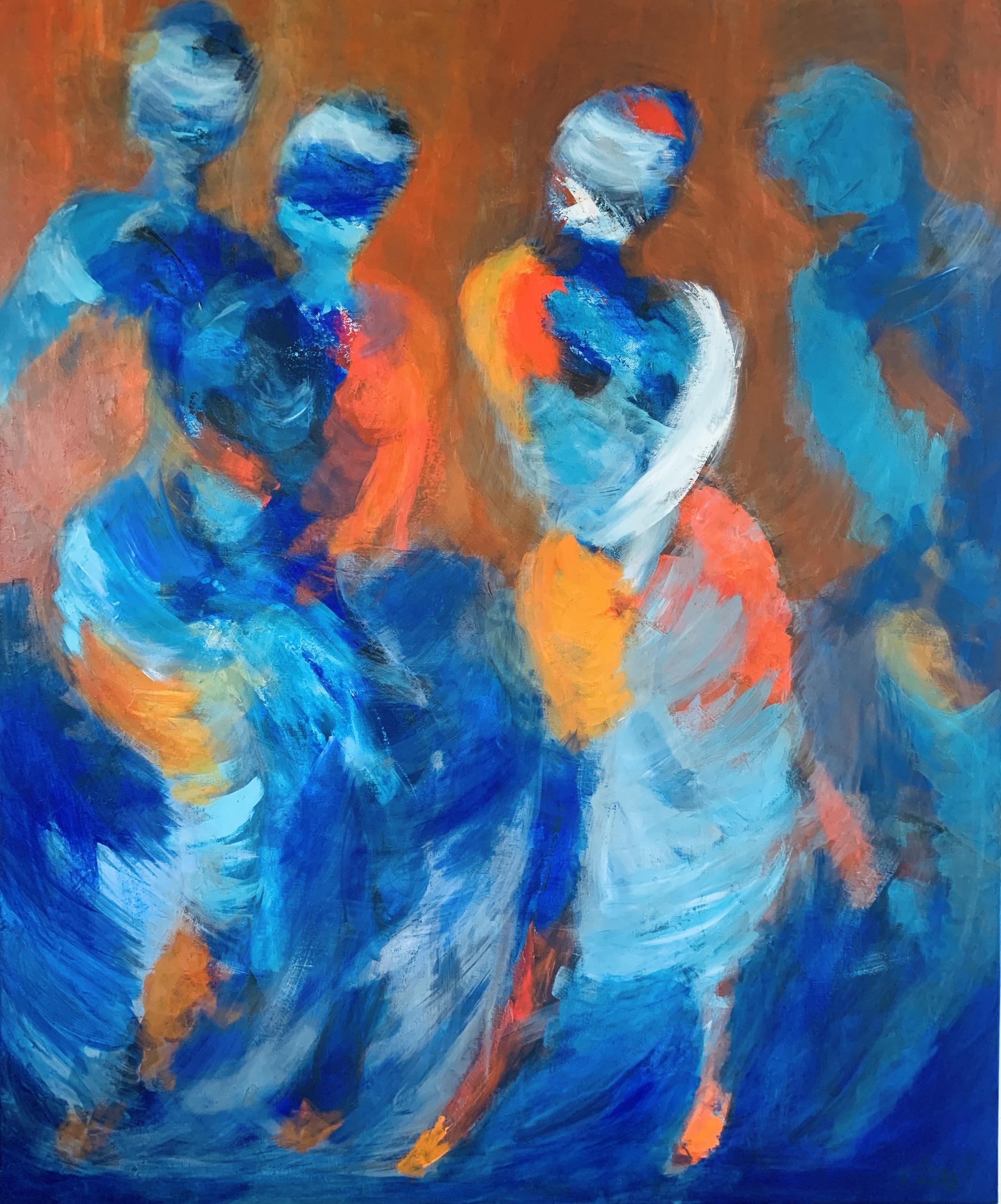 Malestilener inspireret af Degas og hans malerier af det vilde natteliv og letlevende kvinder. Lysten til at male det fik jeg, da jeg så tv-serien Babylon-Berlin.