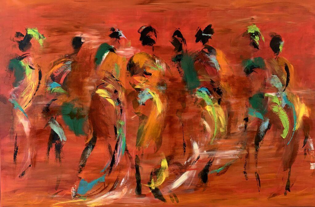 Tine Weppler Danser i sandet 100 x 150 cm