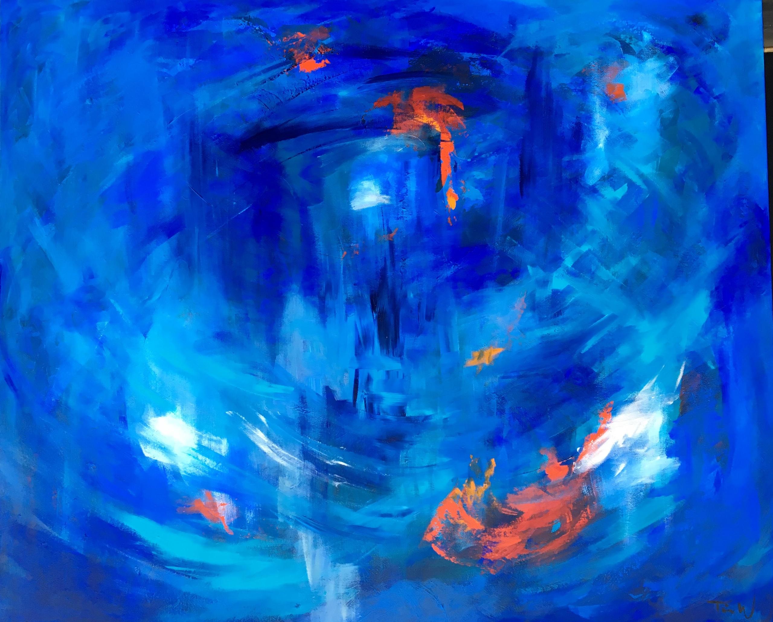 Mange af mine  malerier er inspireret af fascination af vandhvirvlerne.