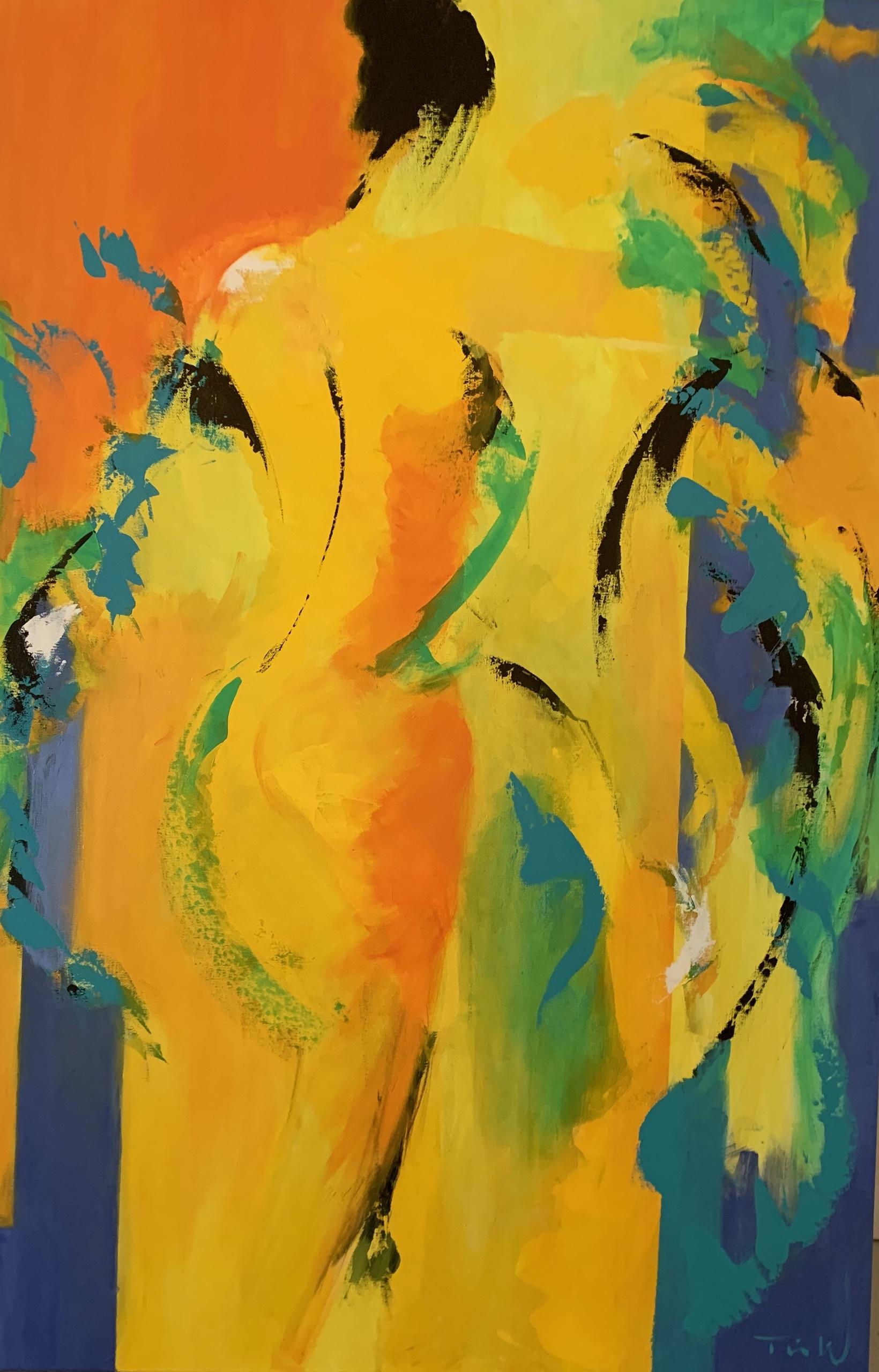 Her i dette maleri er jeg inspireret af den franske maler Henri Matisse