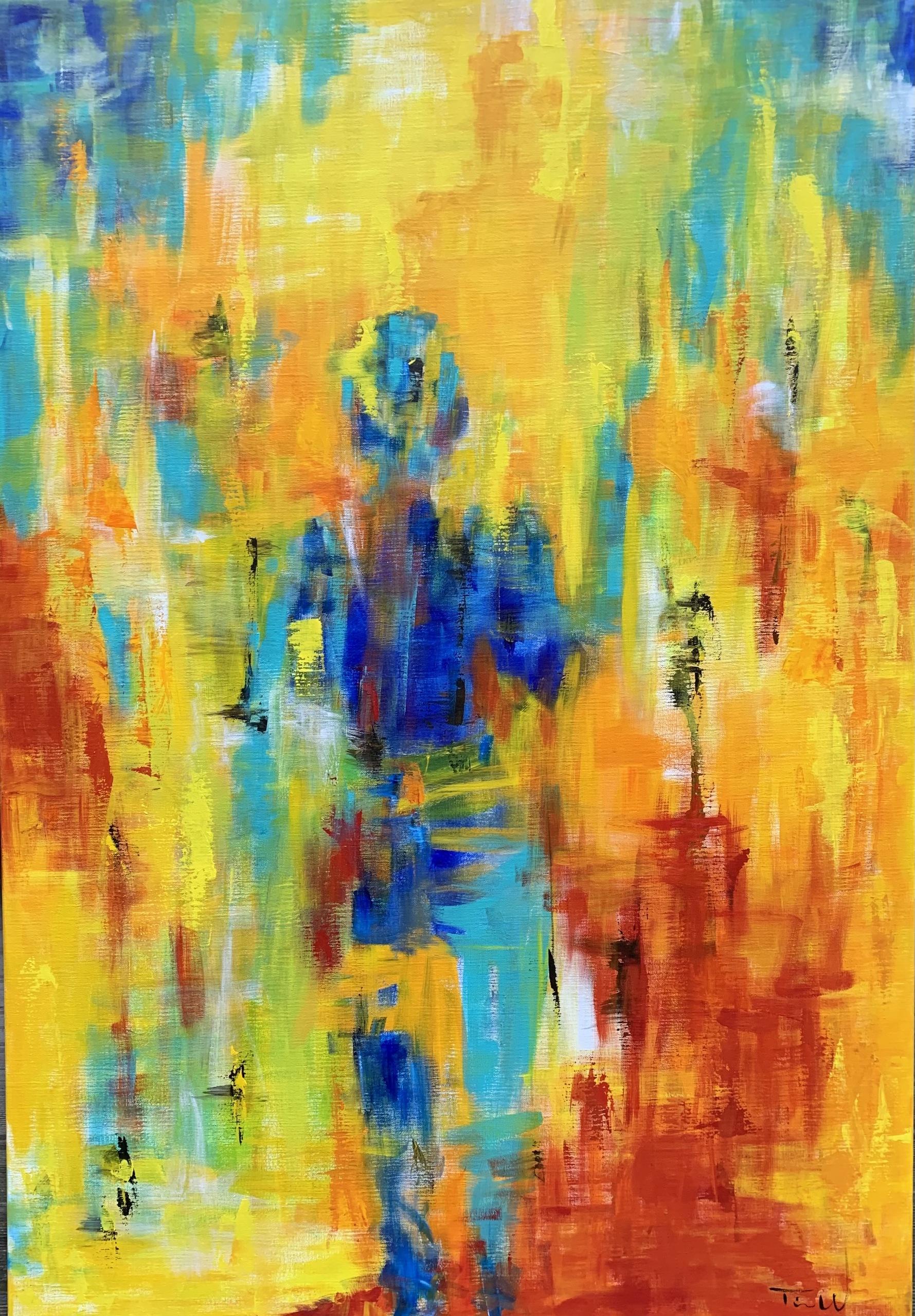 En drømmende komposition med et stort farvespecter