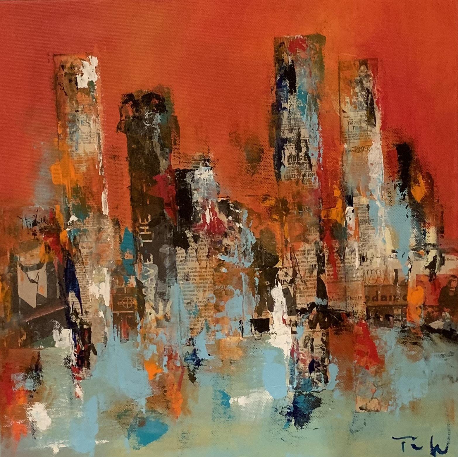 Inspiration fra mit hotelvindue med flot udsyn over New York.