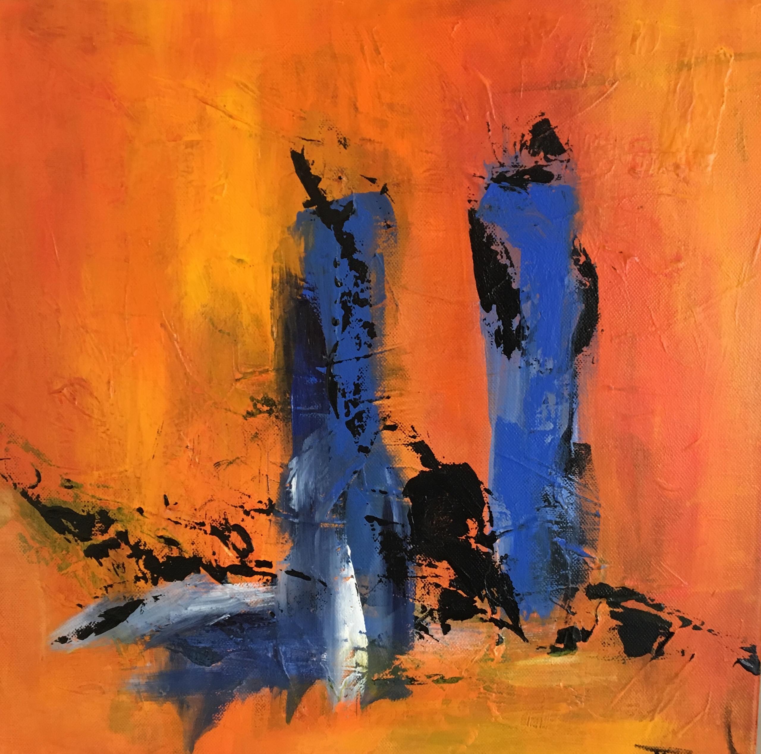 Jeg har malet en skøn lille serie på fire malerier, der hænger sammen som en historie, du kan se dem alle under store og små malerier.