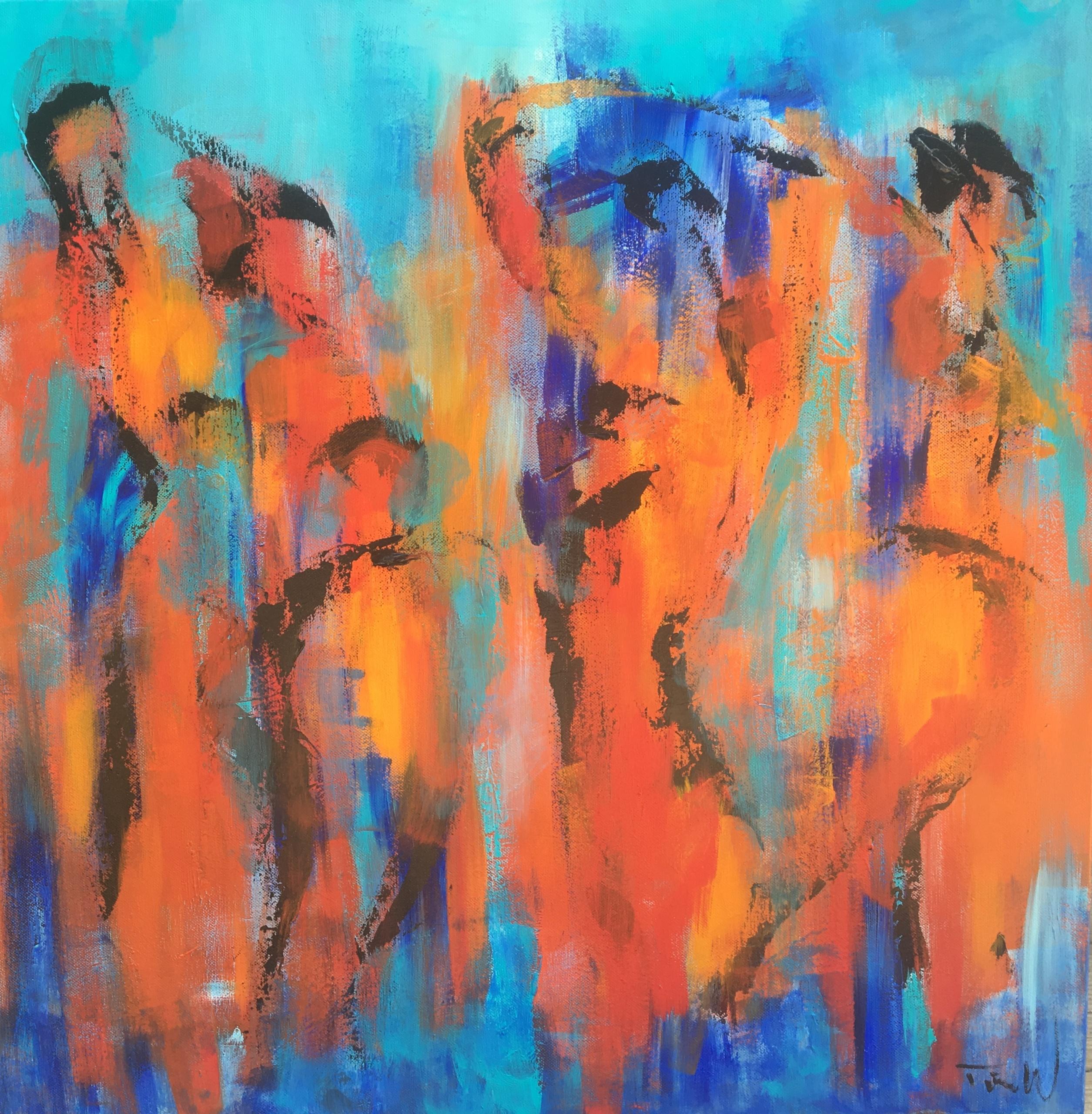 Maleriet her er inspireret af Karl Schmidt-Rottluff, som er en af de tyske ekspressionister fra kunstsammenslutningen