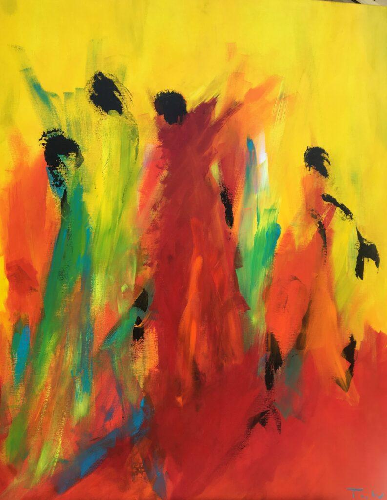 Farverige malerier af mennesker