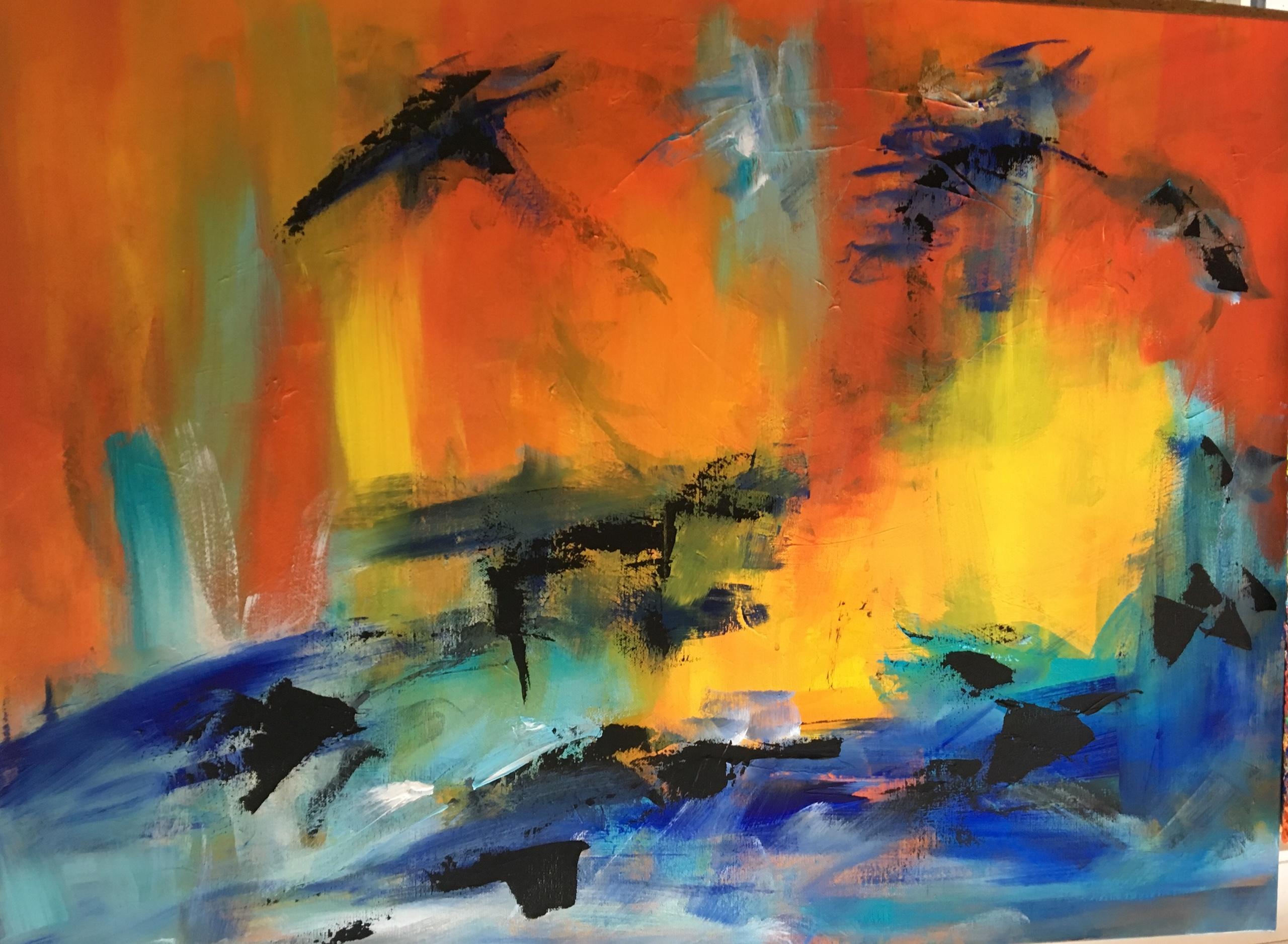 Jeg var optaget af, om jeg kunne male noget, der gav udtryk for de 17 Verdensmål - her er mit bud