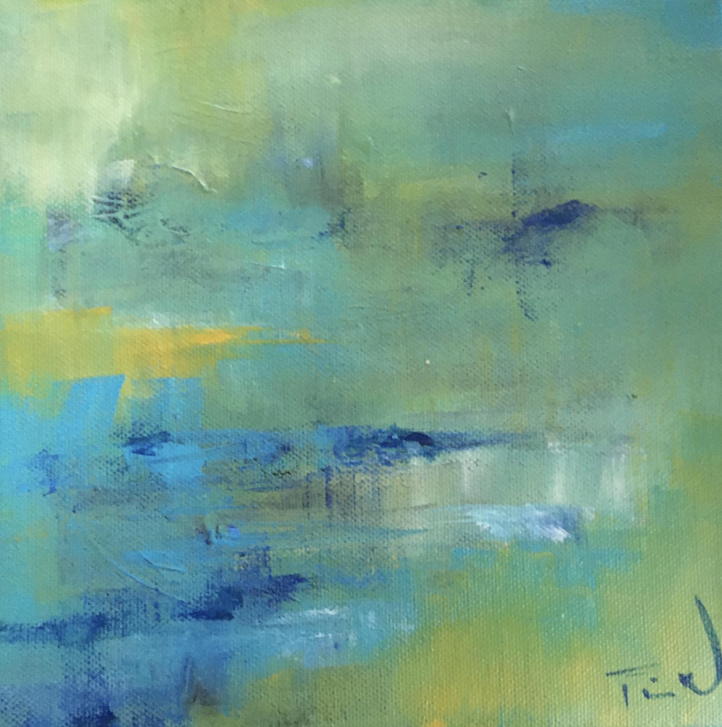 Jeg maler ikke så ofte i afdæmpede farver, men indimellem passer det alligevel bedst til min sindsstemning - er den mon tåget?