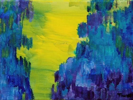 Mine rejser har inspireret mig til at male disse vilde kalkstensklipper, der nærmest er helt levende og oraganiske.