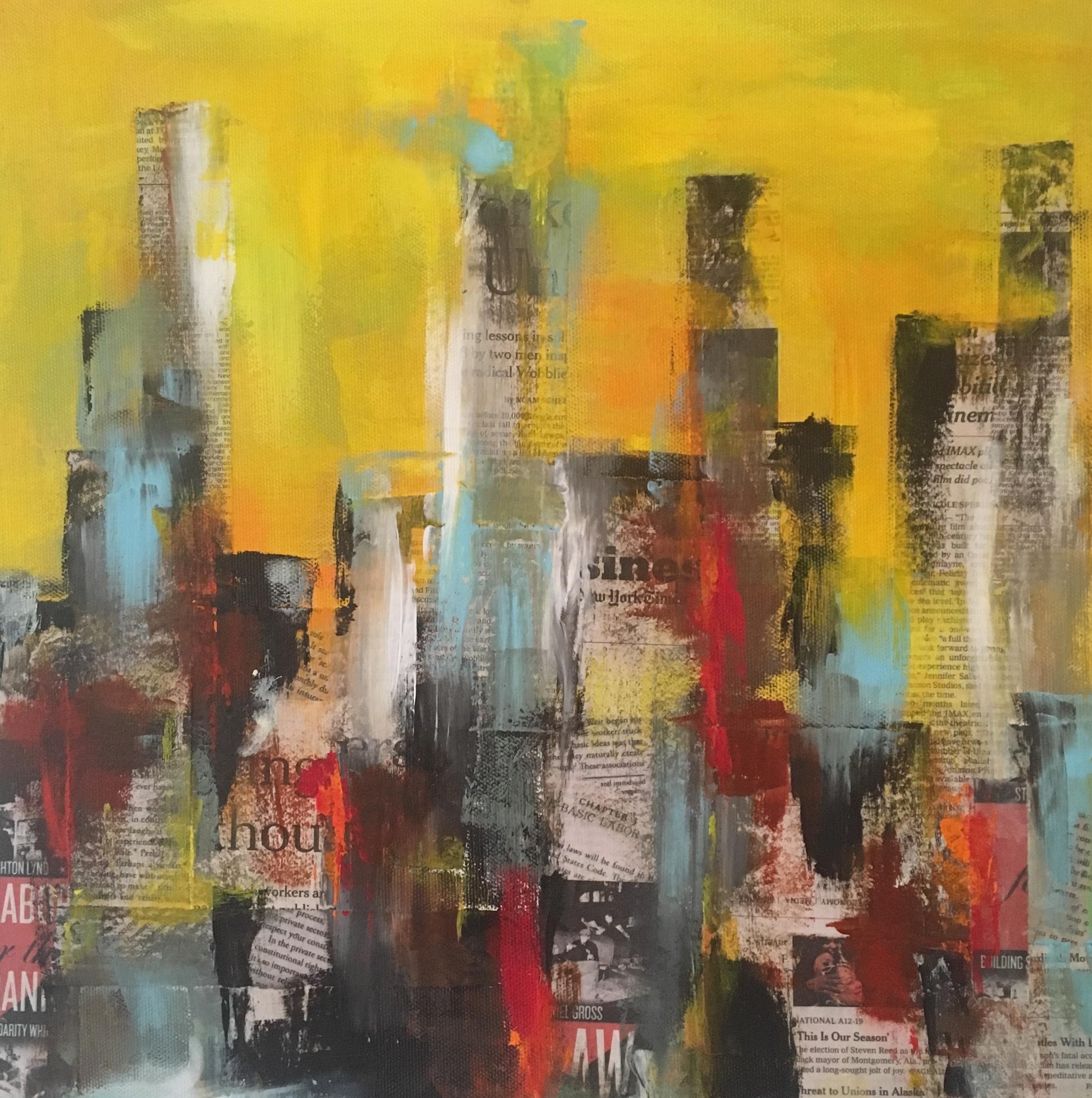 Jeg udstiller på Lower Manhatten i marts 2021 - og er her inspireret efter besøg på mit newyorker galleri.