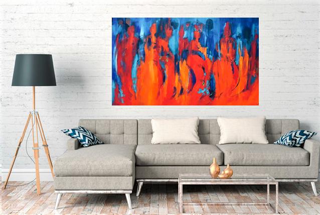 Tine Weppler abstrakte farverige malerier