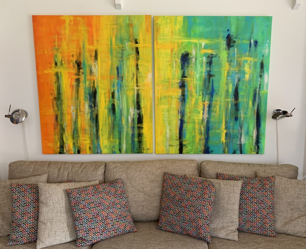Salg af abstrakte malerier til hjemmet