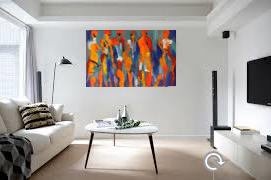 Få et moderne maleri med wow-effekt til dine hvide vægge