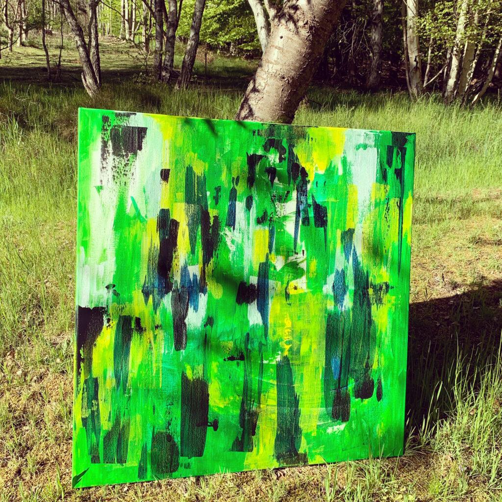 Atelieret flytter ud under birketræet