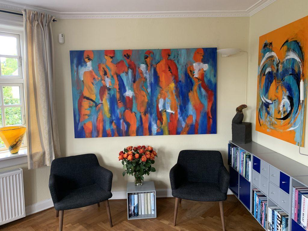 Få et stort flot maleri på væggen i dit hjem