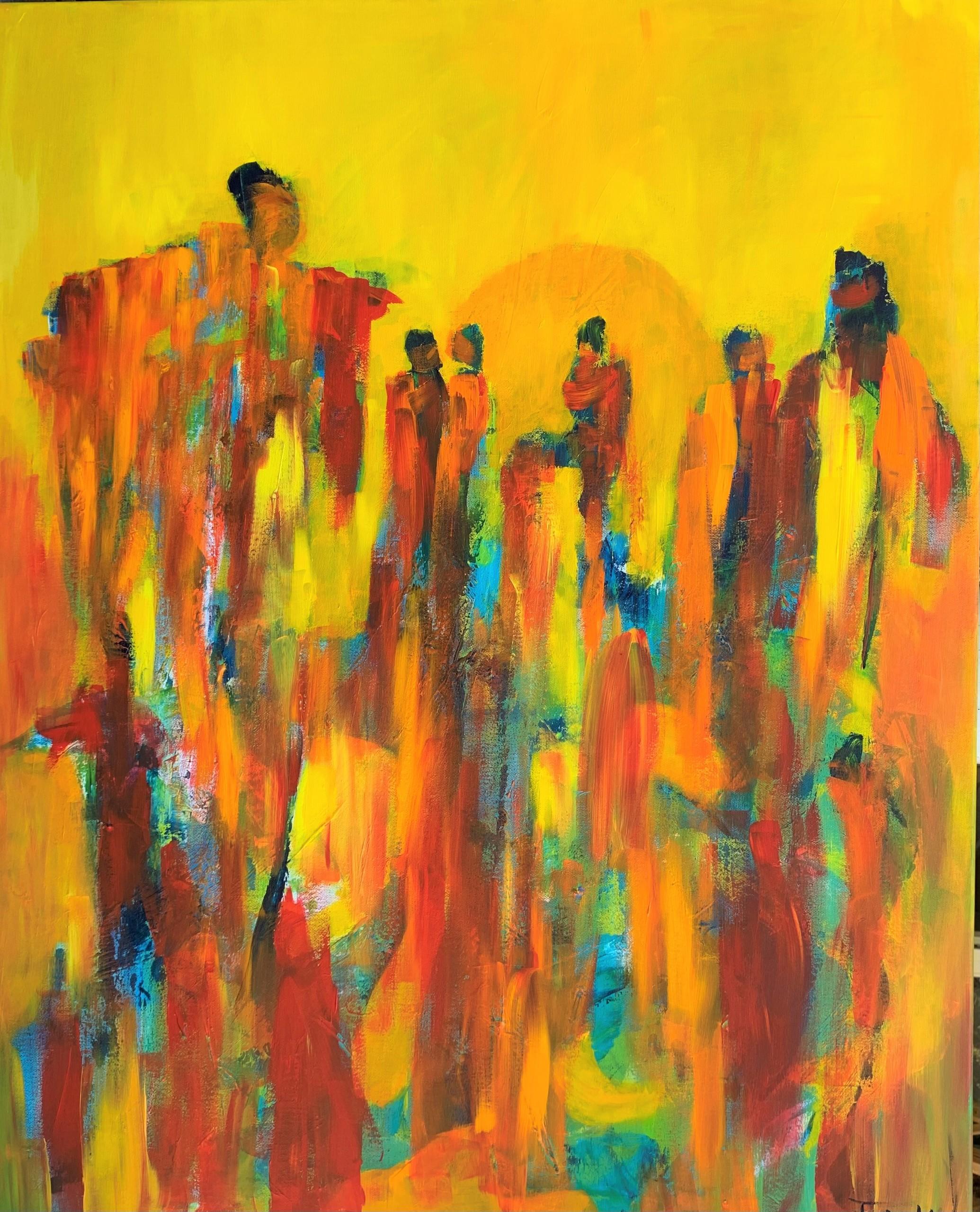 Maleriet er inspireret efter en udstilling med Cobra-kunstnerne, som malede ekspressive og fantasifulde malerier. Målet med maleriet er at vække fantasien, når beskuerne danner meninger om maleriet.